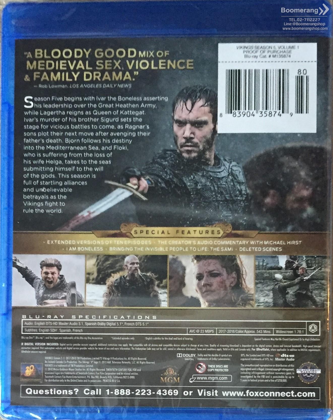 Vikings: Season 5 - Vol 1 | BoomerangShop com - Thailand