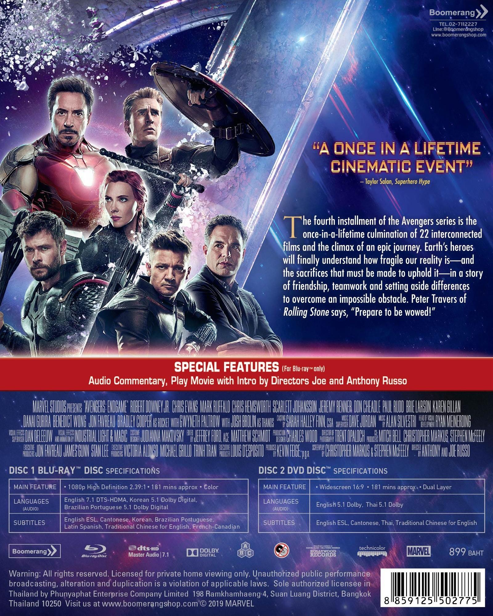 """Avengers Endgame À¸à¹€à¸§à¸™à¹€à¸ˆà¸à¸£ À¸ª À¹€à¸œà¸"""" À¸ˆà¸¨ À¸ Blu Ray Dvd Bd À¹""""ม À¸¡ À¹€à¸ª À¸¢à¸‡à¹""""ทย À¹""""ม À¸¡ À¸‹ À¸šà¹""""ทย Dvd À¸¡ À¹€à¸ª À¸¢à¸‡à¹""""ทย À¸‹ À¸šà¹""""ทย Boomerangshop Com Thailand Online Blu Ray Dvd Cd Store"""