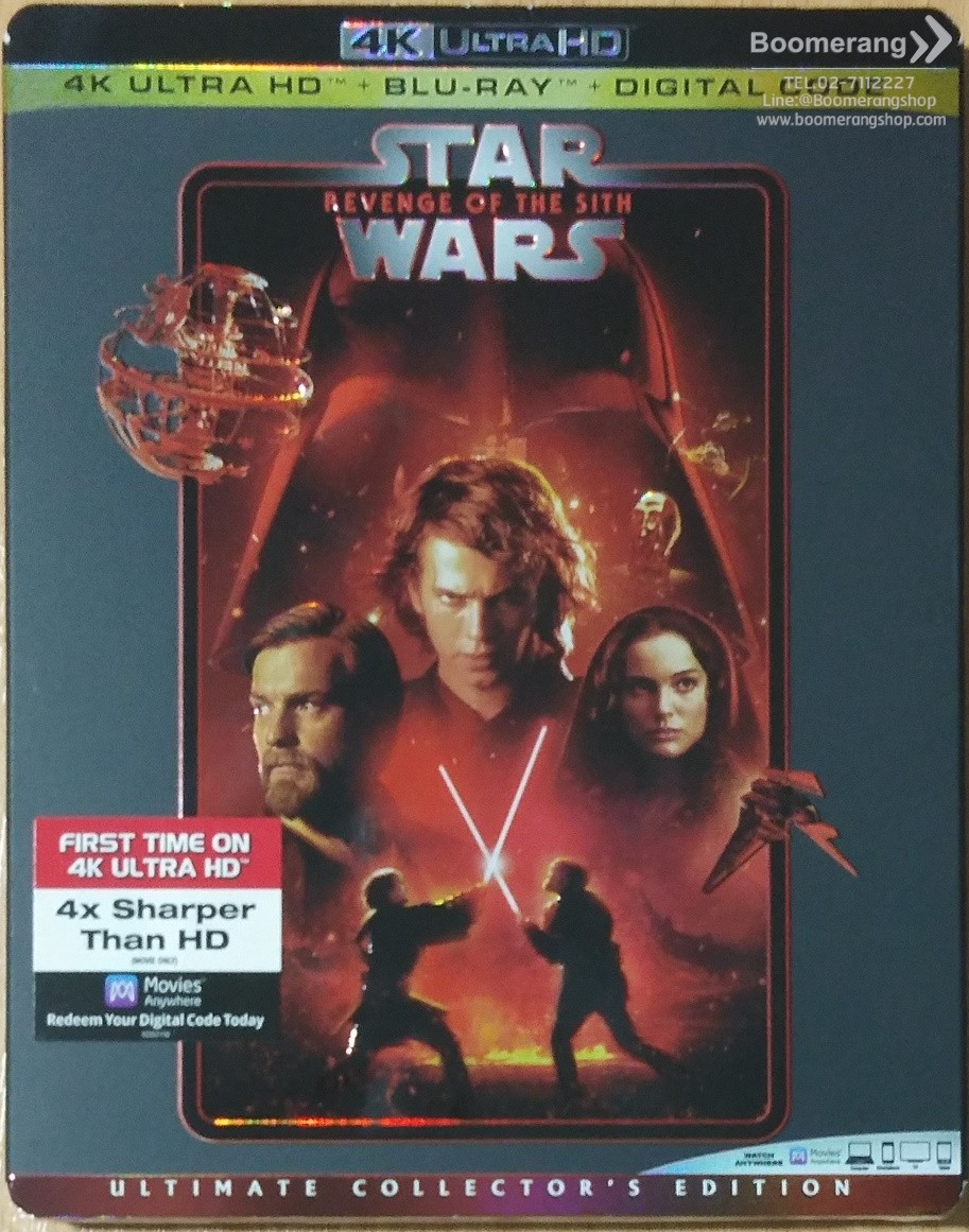 Star Wars Episode Iii Revenge Of The Sith 4k Ultra Hd Blu Ray Digital Code Boomerangshop Com Thailand Online Blu Ray Dvd Cd Store